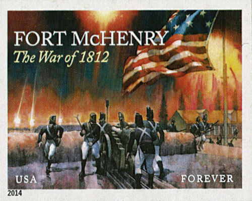 2014 49c The War of 1812: Fort McHenry, Imperforate Sco