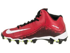 feb81cefca6 Kid s Nike Alpha Shark 2 3 4 BG Football Cleats - Red White Black ...
