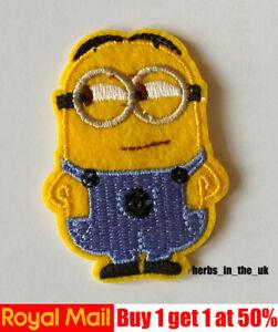 Minions Kid Cartoon Patch Badge Iron On Sew On