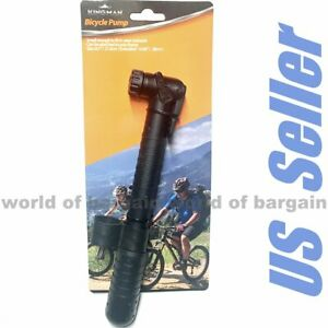 Bicycle-Bike-Tire-HAND-PUMP-Schrader-or-Presta-Valve-Inflate-Tube-Air-Pressure