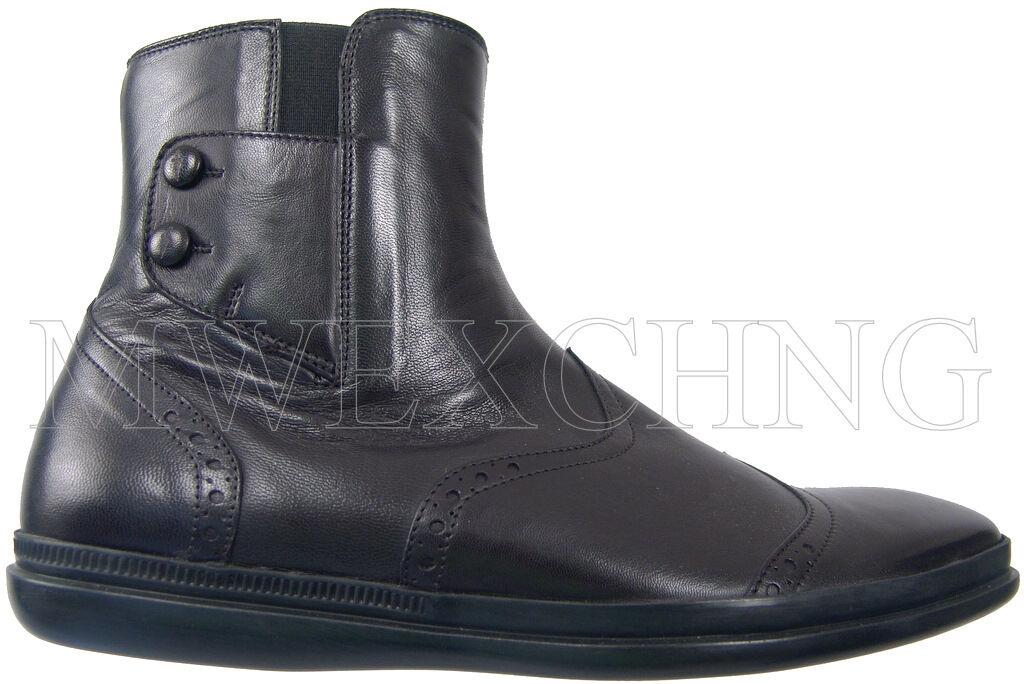 CESARE PACIOTTI Shearling botas al Tobillo Zapatos para hombres en EE. UU. 6.5 Diseñador Italiano
