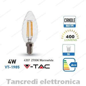 Lampadina-led-V-TAC-4W-40W-E14-bianco-caldo-2700K-VT-1985-a-candela-filamento