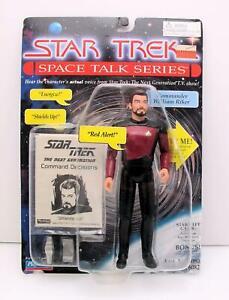Star Trek Space Talk Series Commander William Riker Action Figure Playmates 1995