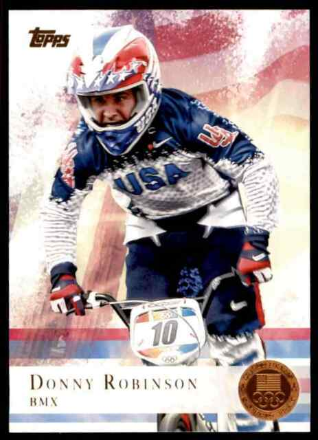 2012 TOPPS OLYMPICS COPPER DONNY ROBINSON BMX #79 PARALLEL