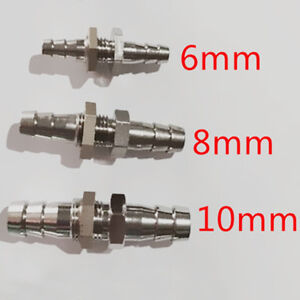 Druckluft Verbinder Pneumatik Schottverschraubung in verschiedenen Größen ss