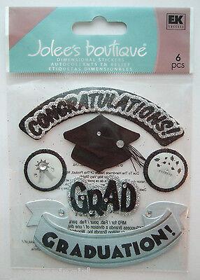 ~HATS OFF GRAD~ Jolee's Boutique Dimensional Stickers High School Graduation