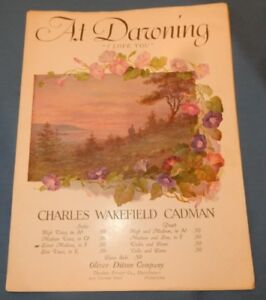 Details about Sheet Music 1915 Art Deco Morning glory Cover