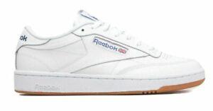 MEN-039-S-Reebok-Baskets-Club-C85-AR0459-Blanc-Bleu-Bas-Haut-Chaussures-Taille-11-5-UK