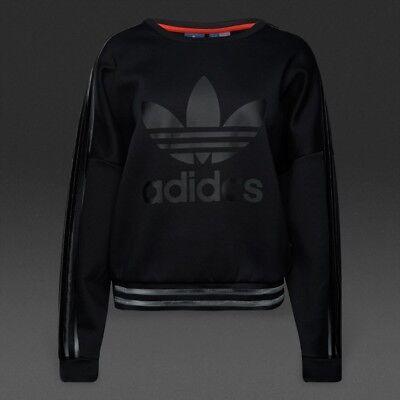 $69.99 Adidas Damen Original Sweatshirt Schwarz Gesundheit FöRdern Und Krankheiten Heilen