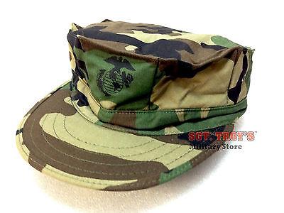 USGI 8-POINT OD GREEN MARINE COVER CAP HAT 50//50 NYLON COTTN MADE USA EGA NEW