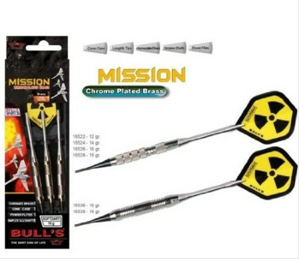 Bull's 3 Softdart Mission Chr. Brass 14 g