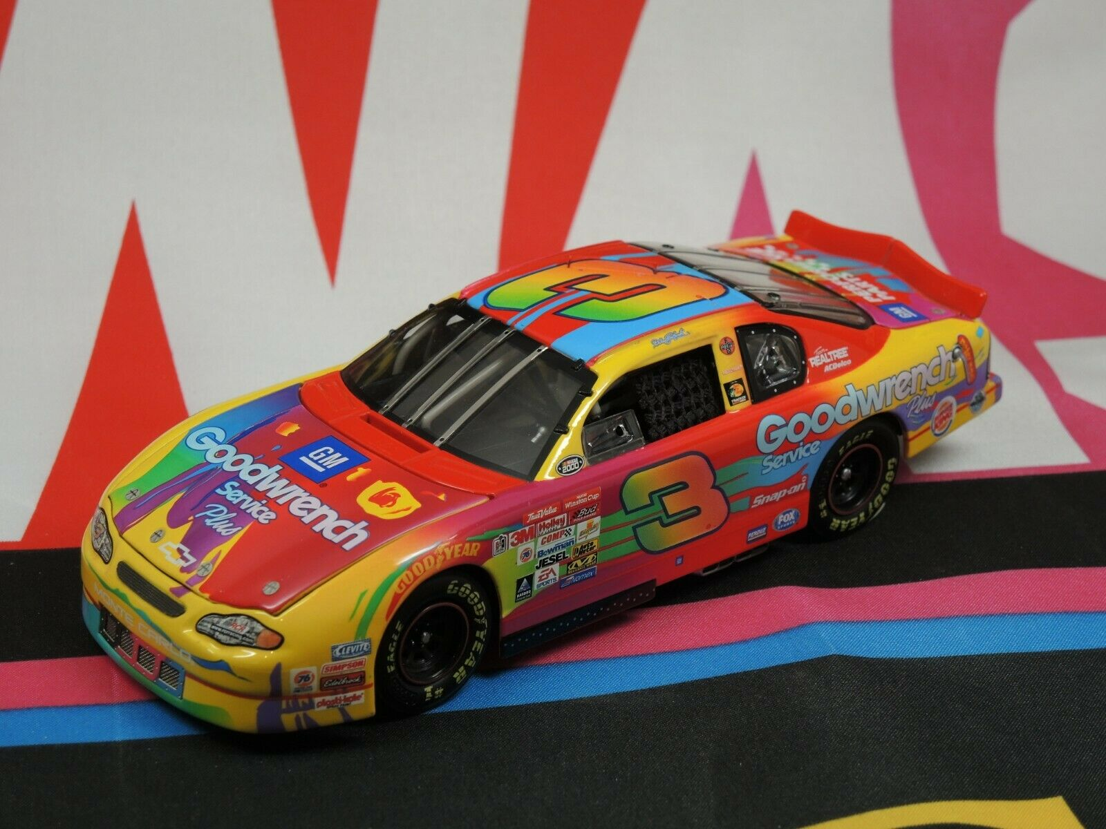 Dale Earnhardt  3 GM Goodwrench Service Plus Peter Max 2000 1 24 Elite
