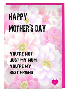 Loving Floral Mothers Day Card For Mum Step Mum You Re My Best