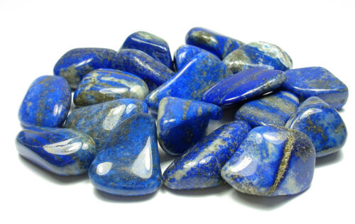 TUMBLED - Healing Stone MED//LG LAPIS LAZULI Crystal with Description Card 1