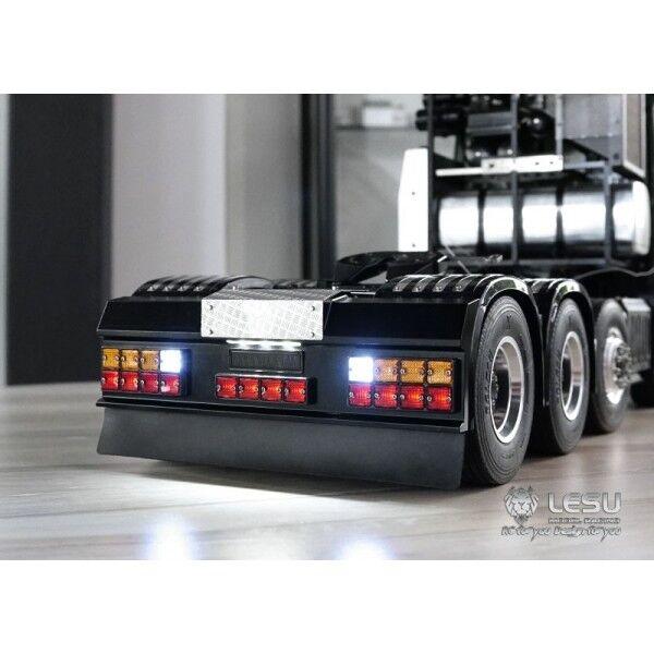 LED luce di segnale QUADRATO JESU Set Con Paraurti posteriore per Tamiya tutte le 1/14 Man Scania
