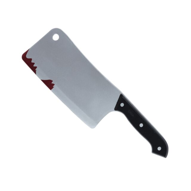Fake Plastic Knife Butchers Meat Cleaver Halloween Prop Decoration