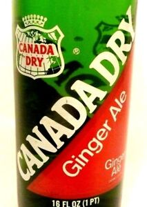 vintage-ACL-Soda-POP-Bottle-FULL-CANADA-DRY-GINGER-ALE-PA-amp-OH-16-oz-TYPE-2