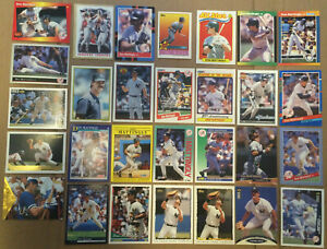 DON-MATTINGLY-LOT-of-42-ERROR-inserts-base-cards-NM-1987-1996-HOF-NY-Yankees