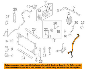 2004 nissan frontier engine diagram nissan oem 01 04 frontier air conditioner suction hose 924809z012  frontier air conditioner suction hose