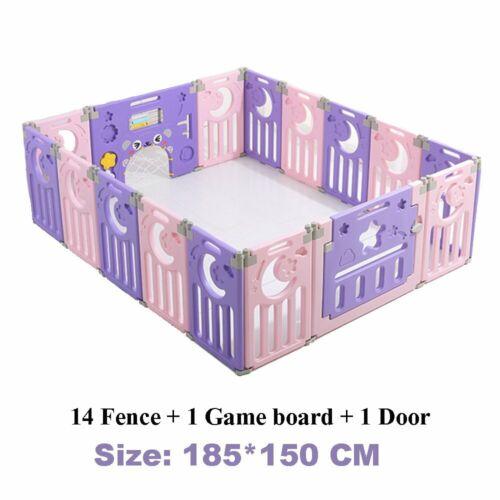 Baby Playpen Plastic 12//14+2 Panel Foldable Baby Playpen Kids Activity Center UK