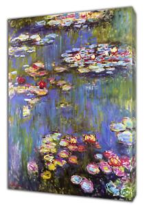 Hospitalier Claude Monet Water Liles Peinture à L'huile Re Imprimé Sur Toile Encadrée Wall Art Decor-afficher Le Titre D'origine