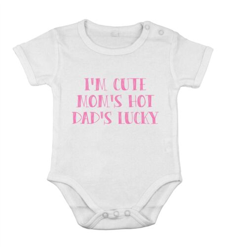 I/'m Cute My Mom/'s Cute And My Dads Lucky Newborn bodysuit short One-piece king