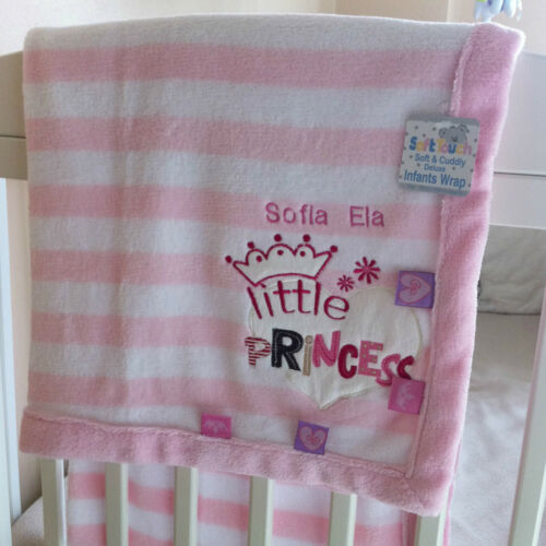 Little Princess Baby Blanket great gift Personalised Deluxe Little Prince
