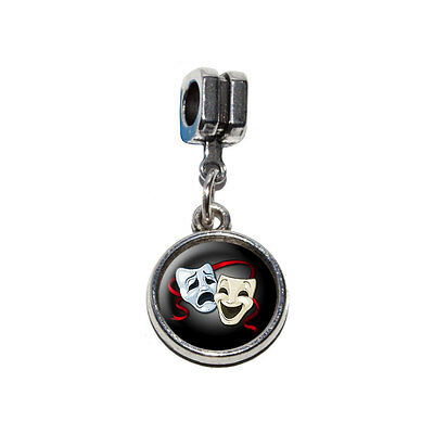 Drama Comedy Tragedy Masks - Acting Theatre Theater - Euro Style Bracelet Charm