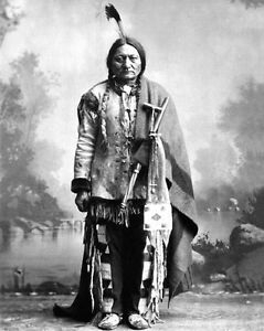 native american indian chief sitting bull vintage 8x10 photo sioux