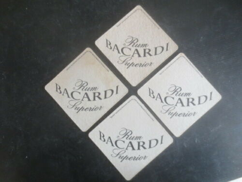 "complete set of 4 BACARDI RUM 1970,s /"" jigsaw /""  Australian Issue COASTERS"
