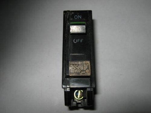 Used 20 Amp 1 Pole THQL120 1 pc GE Circuit Breaker