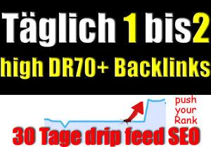 30-Tage-manueller-Linkaufbau-taeglich-1-bis-2-High-DR-70-Backlinks-mit-Content