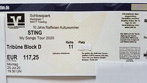 2 x Sting 22.07.2022 Schlosspark Tüssling - Sitzplätze Block D - neuer Termin