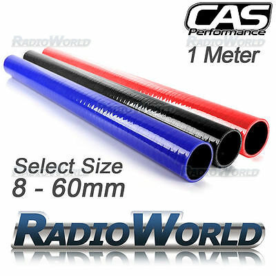 1m CAS Silicone Hose Pipe Tube Coolant Radiator Air Boost Turbo Red, Black, Blue