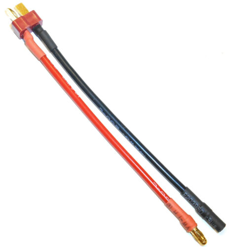 C8026 mâle 3.5 mm gold mâle à connecteur T-Plug adaptateur convertor Fil 14 AWG