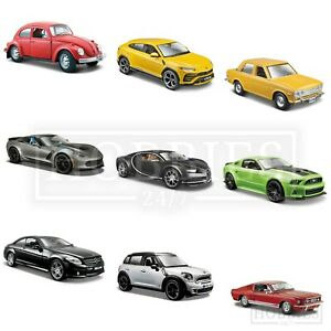 Maisto-Diecast-Model-Cars-1-24-SCALA-EDIZIONE-SPECIALE-FORD-MINI-Bugatti-Lambo-VW
