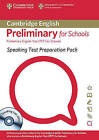 Speaking Test Preparation Pack for PET for Schools Paperback with DVD by University of Cambridge ESOL Examinations (Mixed media product, 2009)
