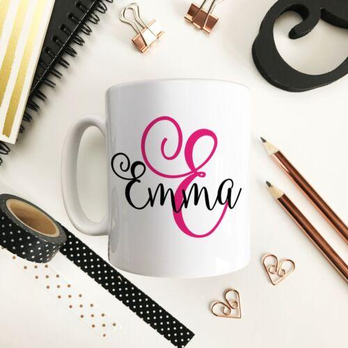 Personalised Monogram Initial Any Colour Coffee Tea Mug Gift 11oz Ceramic