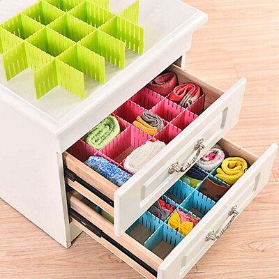 4Pcs/set DIY Grid Drawer Divider Household Necessities Storage Organizer 2 sizes