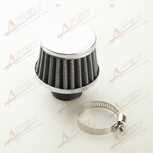 """Universal 25mm 1/"""" Car Cold Air Intake Filter Turbo Vent Crankcase Breather Black"""