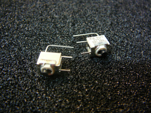 C/&K GS02MAVKE Ultra-Miniature Slide Switch SPST Black Cap  **NEW** Qty.2