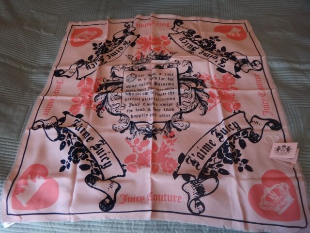 JOUICY COUTURE SILK SCARF - NEW