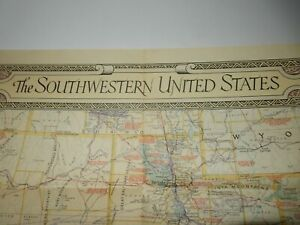 Details about national geographic june 1940 map the southwestern united  states