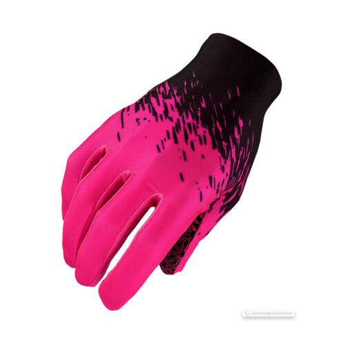 Supacaz SupaG LONG Full Finger Cycling Gloves BLACK//NEON PINK