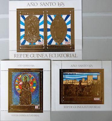 Briefmarken Weihnachten & Feiertage Equatorial Guinea 1975 Block 197-99 Heiliges Jahr Holy Year Religion Jesus Mnh