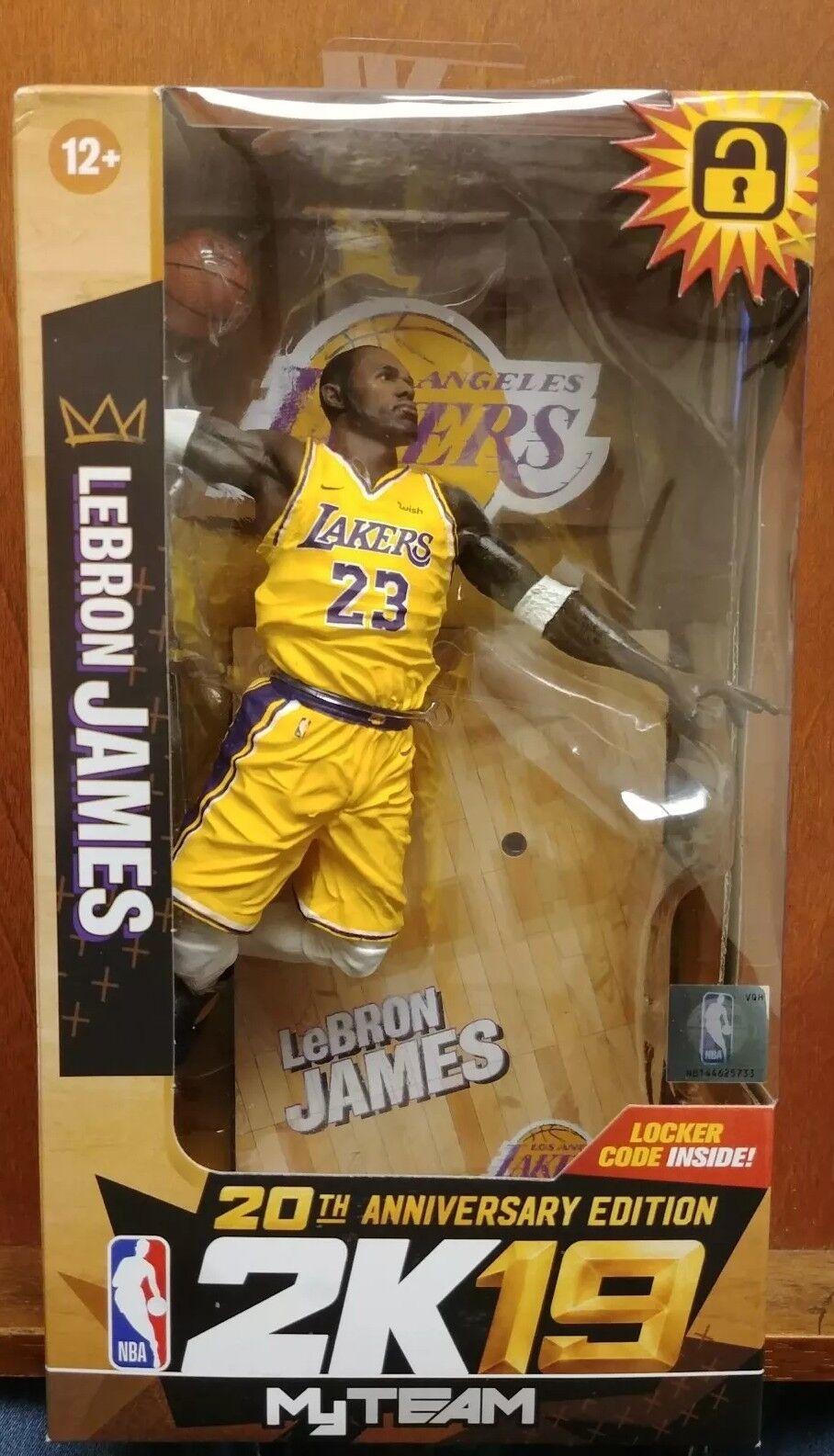 McFarlane LeBron James 2K19 20th Anniversary Edition Edition Edition Los Angeles Lakers 56307a
