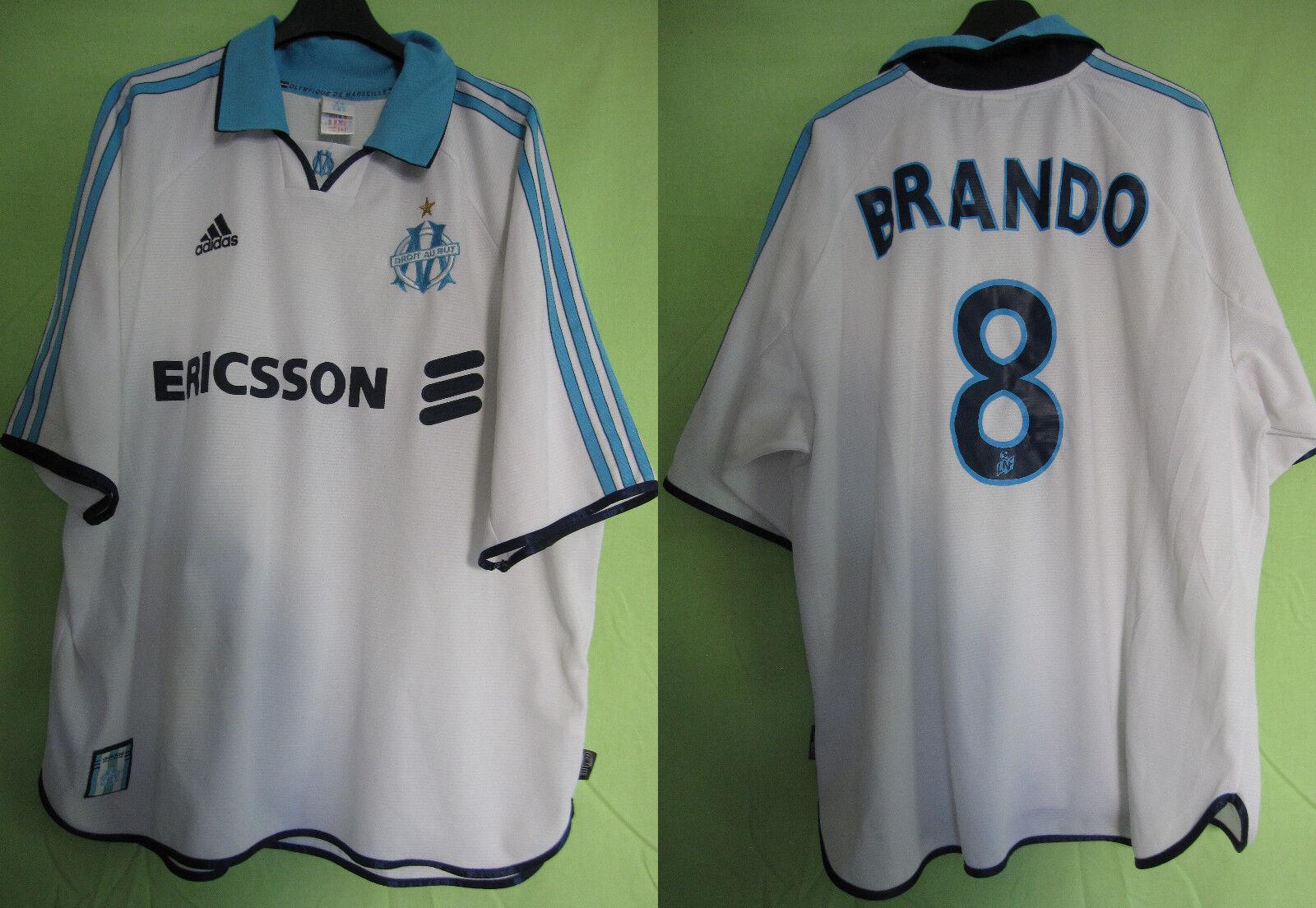 Maillot Olympique de Marseille 1999 Football shirt  BRANDO   8 OM Ericsson - XL  Compra calidad 100% autentica