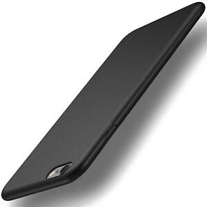 Apple-iPhone-6-6S-Ultra-Slim-Cover-Huelle-Schutzhuelle-Silikon-Schwarz-Tasche-Etui