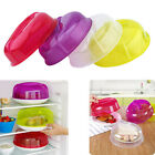 4 Colors Microwave Food Dish Cover Clear Steam Vent Splatter Lid Kitchen Tool LJ