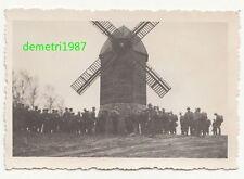 Foto Windmühle windmill Sturmsoldaten wohl Holland ? 2 Wk IIWW (F713